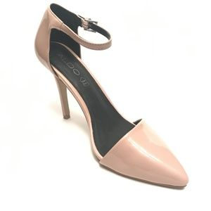 Aldo Peach Color Patent Leather Closed Toe Sz 8